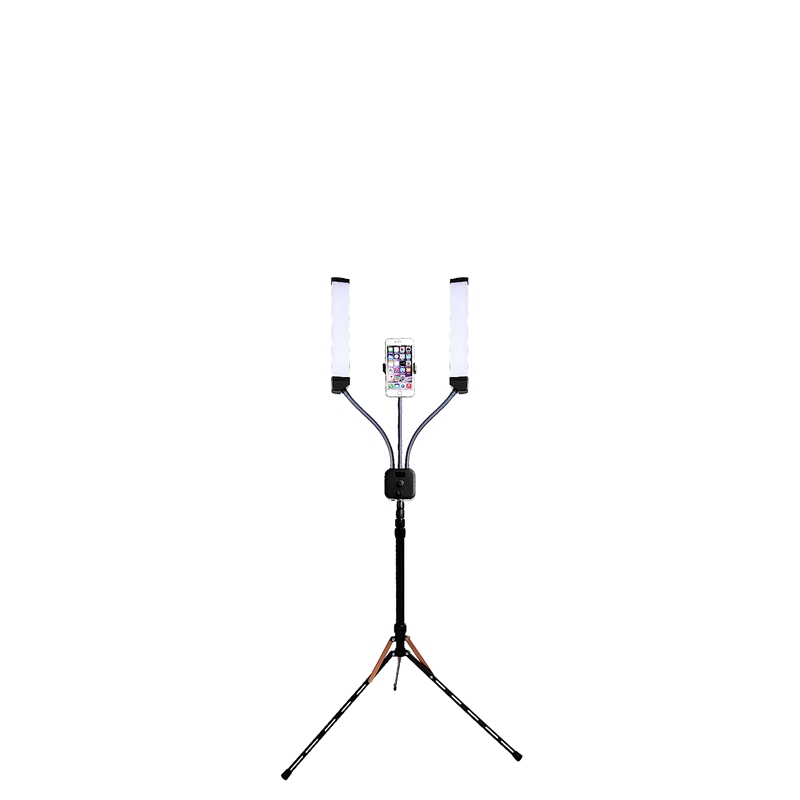 FOSOTO Two Arms LED Selfie, Makeup Light with Phone Stand for phone camera video