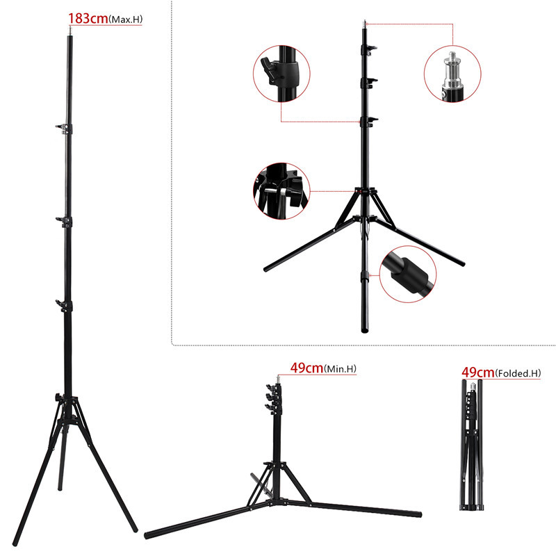 FOSOTO RL-18II Photographic Lighting 3200K-5600K 512 Led Ring Light Dimmable  for Camera ,Makeup