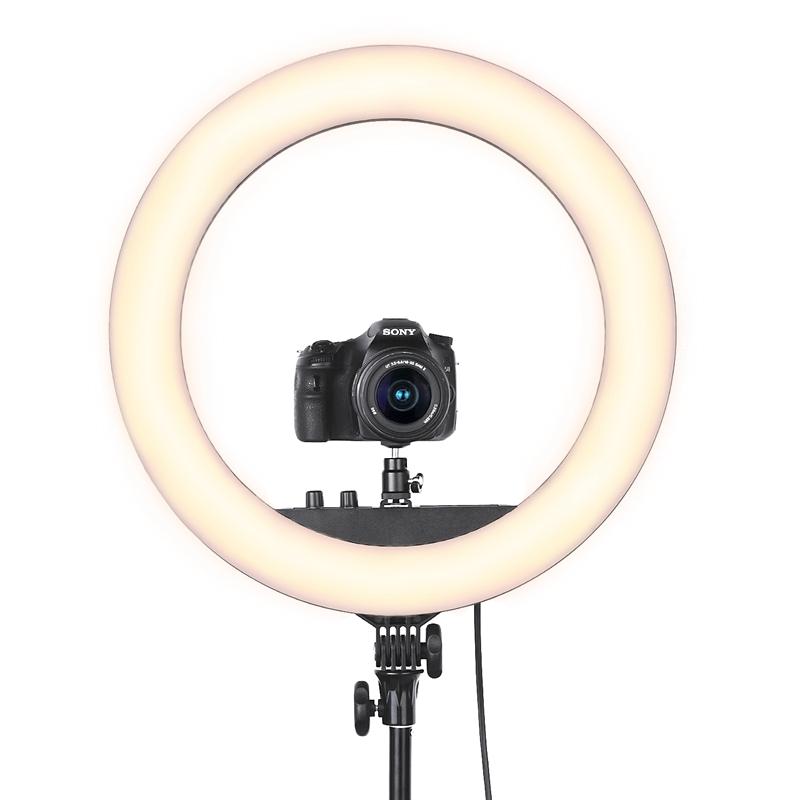"""18"""" LED Ring Light Annular Lamp Bi-color 3200K-5500K 55W Ring Lamps for Video YouTube Photo Ring light Makeup Light"""