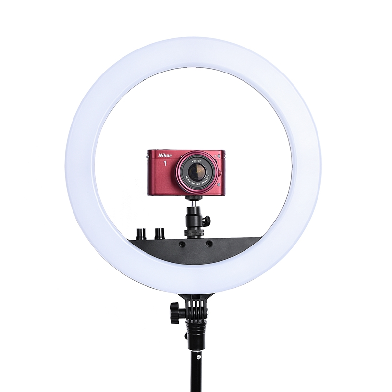 FOSOTO RL-12 240 Camera Photo Studio Phone Video 30W LED Ring Light 3200K-5500K Photography Dimmable Ring Lamp With Tripod
