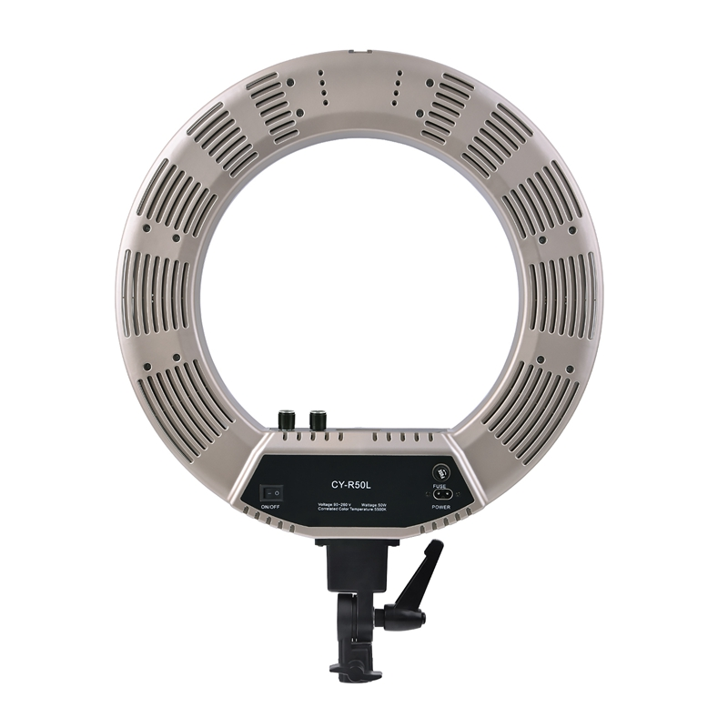FOSOTO CY-R50L 18inch photographic lighting 480pcs led 3200K-5500K Dimmable 55W Ring Light Lamp