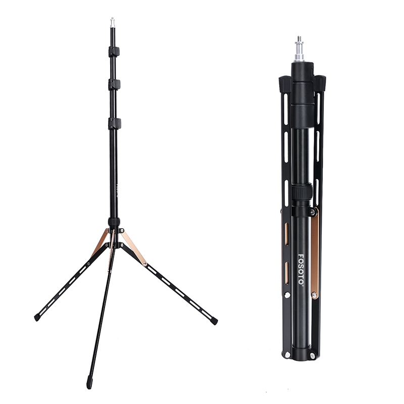Fosoto FT-190 Gold Led Light Tripod Stand For Photo Studio Ring Photographic Lighting Flash Umbrellas Reflector