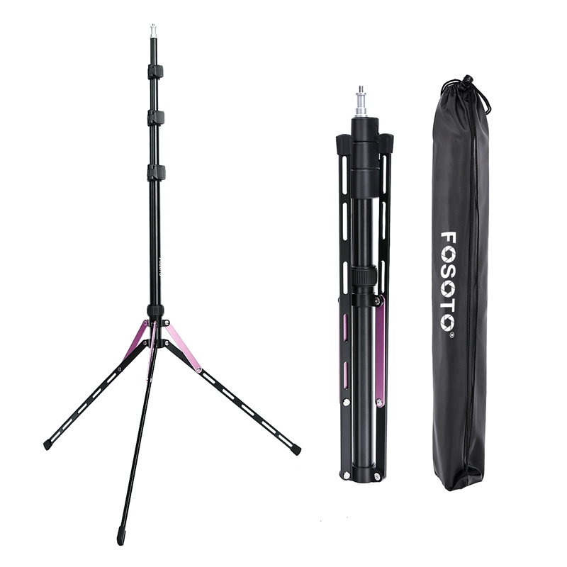 Fosoto FT-190 Purple Led Tripod Light Stand For Camera Phone Photographic Lighting Flash Umbrellas Reflector