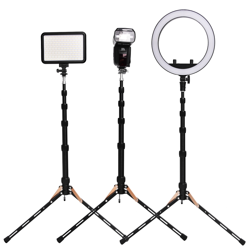 FOSOTO FT-140 Portable Light Stand 123cm Tripod For Camera Phone Photographic Lighting Flash Umbrellas Reflector Photo Studio