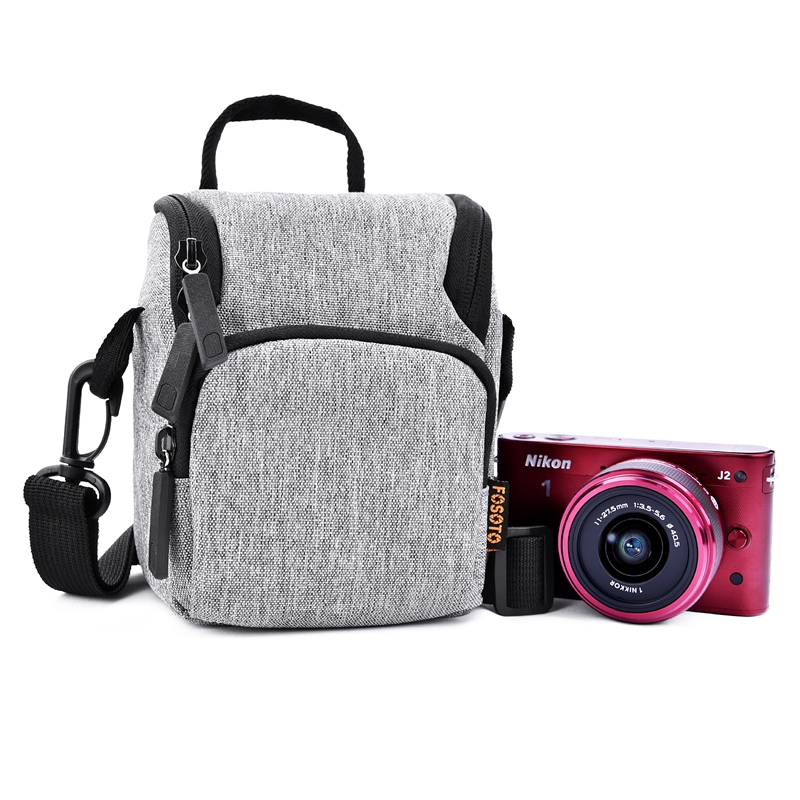 FOSOTO R2 Fashion Waterproof DSLR Camera Bag Shoulder Bags Case With Strap For Canon Eos Nikon Sony FujiFilm Olympus Camera