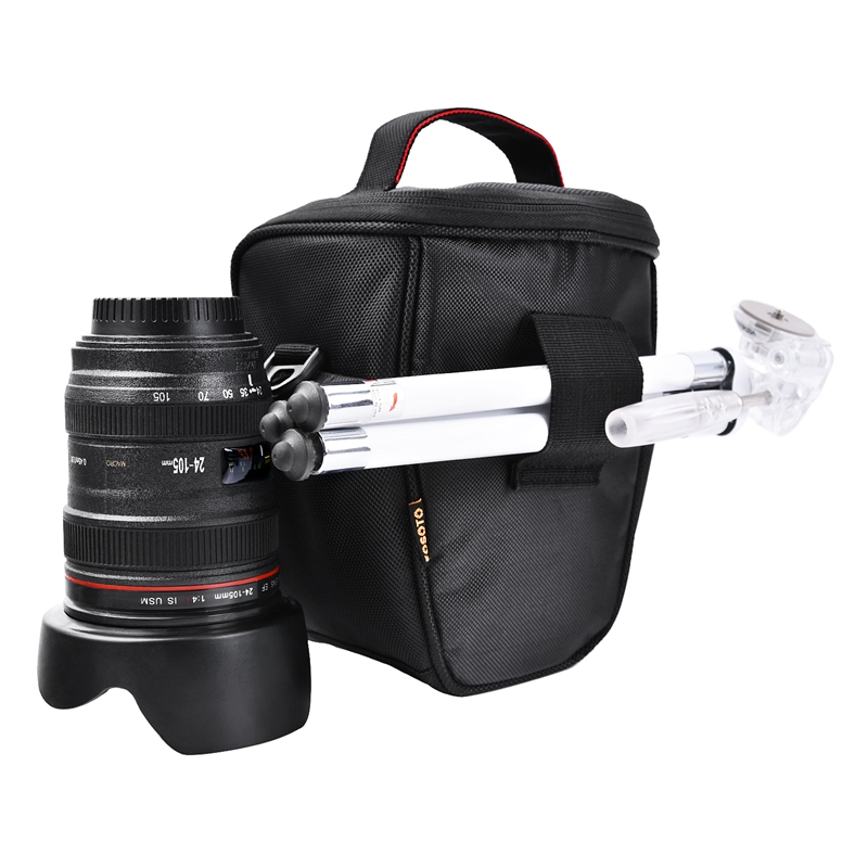 FOSOTO A350 Waterproof and Light Weight Black dslr camera bag Super Zoom Case for Canon SX410 SX420 SX50 Nikon P510 L810 L310