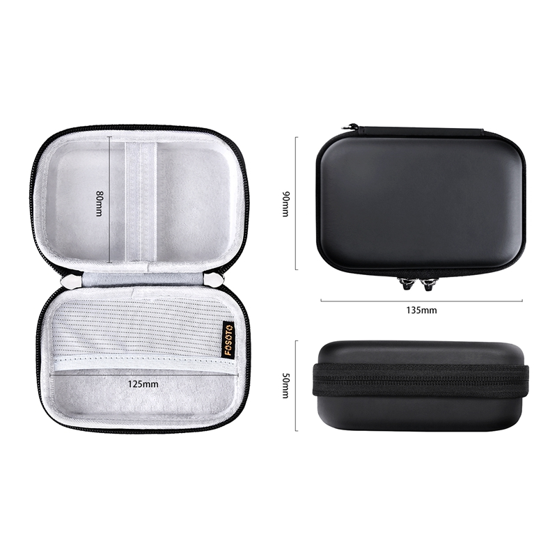 FOSOTO HP-01 Portable Case Shell Cover Travel Carrying Storage Bag For Polaroid ZIP Mobile Printer HP Sprocket Portable Photo Printer