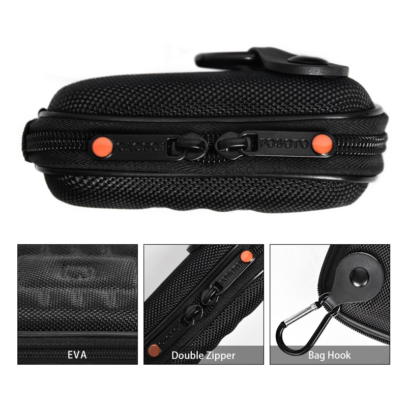 FOSOTO WA DSLR Camera Bag waterproof DV Bags Hard Case for Canon Powershot SX730 SX740 SX710 SX700 HS G7X G9X Mark II 2 SX150