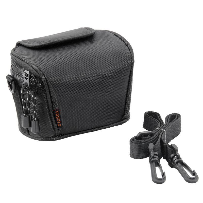 FOSOTO WI Snug Fit Black Camera Case Compatible for Canon PowerShot ELPH 180 190 360 HS SX620 A2300 IXUS 285 180 G9X Mark II,Sony Cyber-Shot DSC-W830 W810 W800 WX220 HX80 HX90,Nikon Coolpix A10 S7000 W100