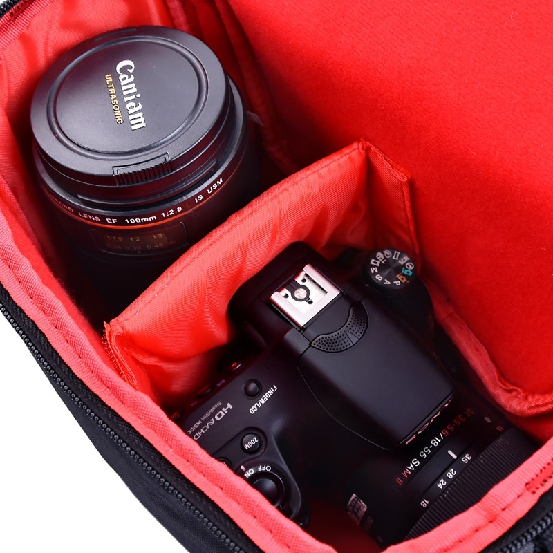 FOSOTO 201S-B DSLR Camera Bag Digital photography Photo Video Shoulder Case Cover Nylon Bags For Dslr Sony Canon Nikon D700 D300 D200