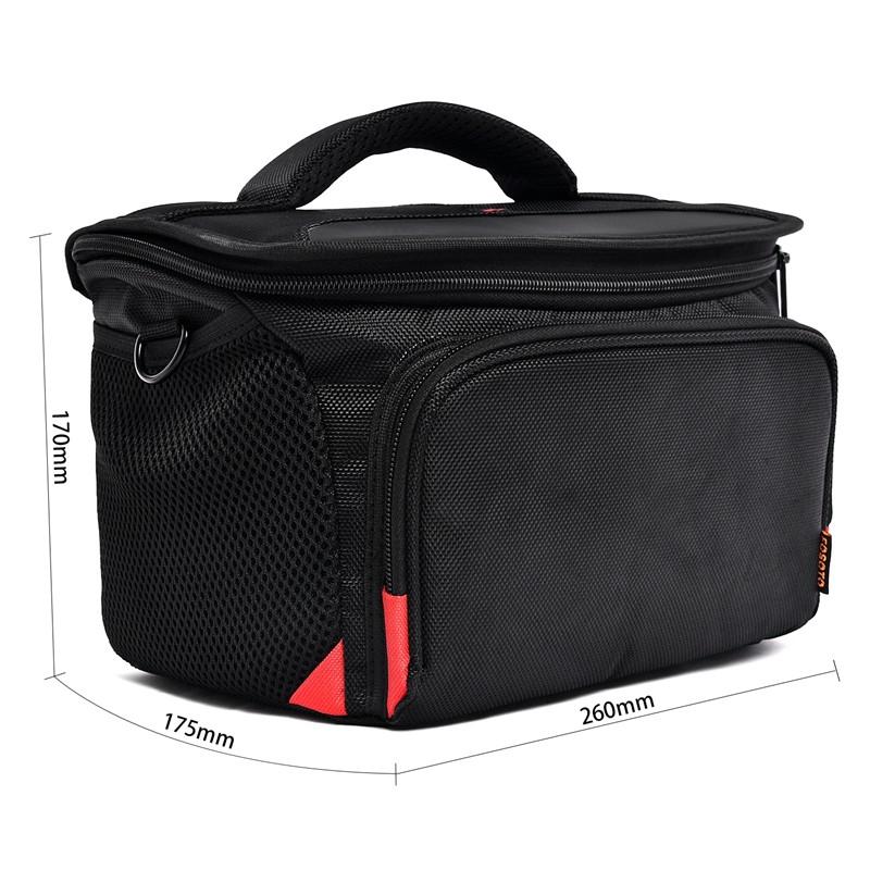FOSOTO R4L Shockproof DSLR Camera Shoulder Bag Case Compatible for Canon EOS T5i T6 T7i 5D 6D, Nikon D3400 D5600 D7200 D750 D610, Sony A99 Olympus Fujifilm Pentax