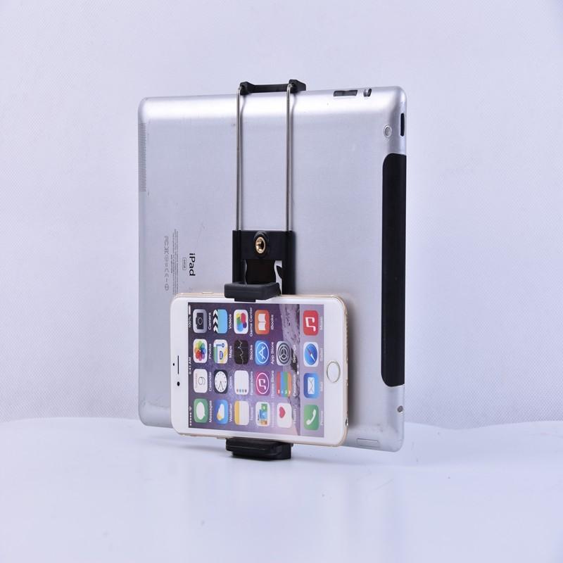 FOSOTO Adjustable Ipad Holder  For Smartphone iPad Camera Tripod Stand Mount