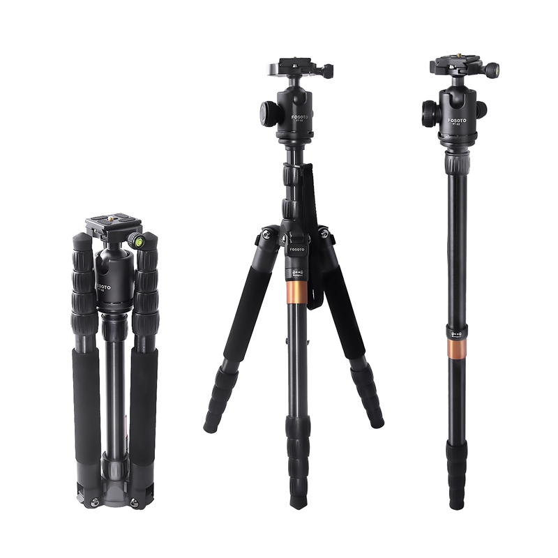 FOSOTO F-666 Professional Portable Travel Digital DSLR Camera Monopod tripod Stand with Phone Holder For Canon Nikon DSLR DV Phone