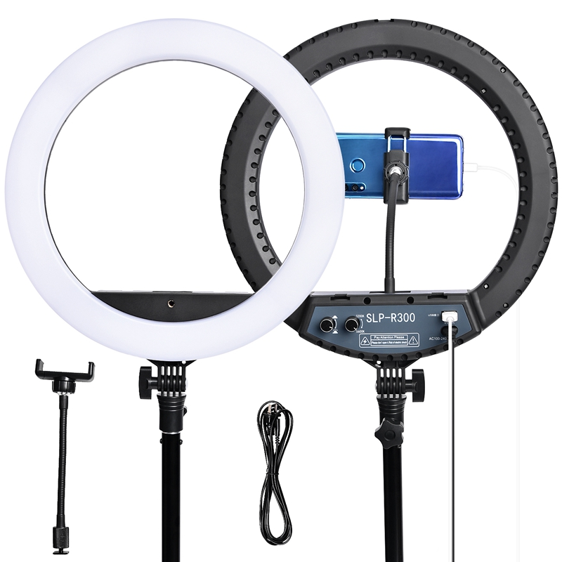 FOSOTO SLP-R300 3200~5600k dimmable photographic lighting with bag for beauty,dental,hair salon