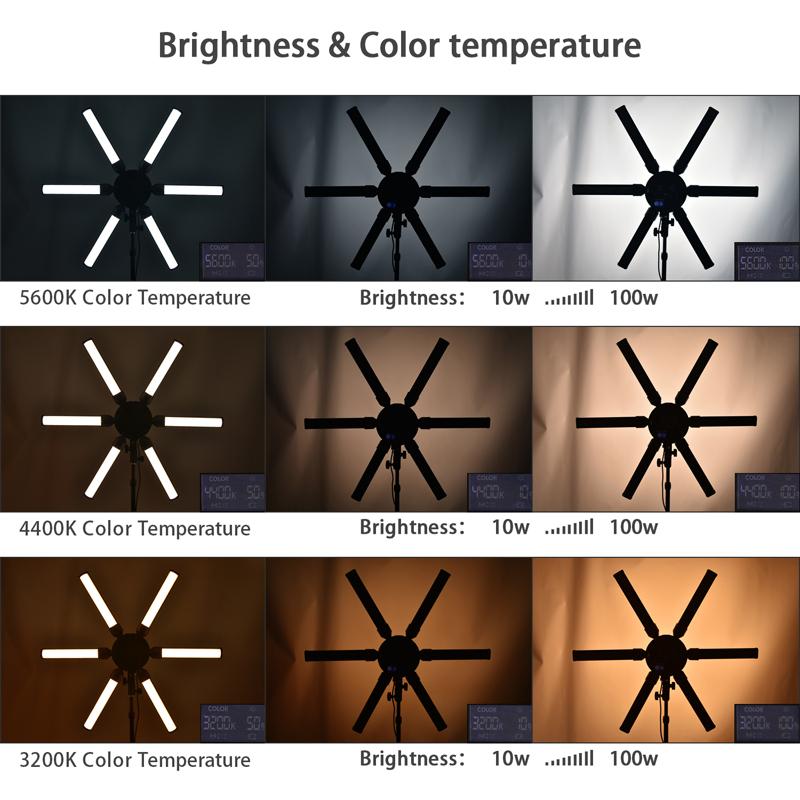 FOSOTO FT-SL6S Multimedia Extreme Star Light Lamp 3200-5600K Led Ring Light For Camera Phone