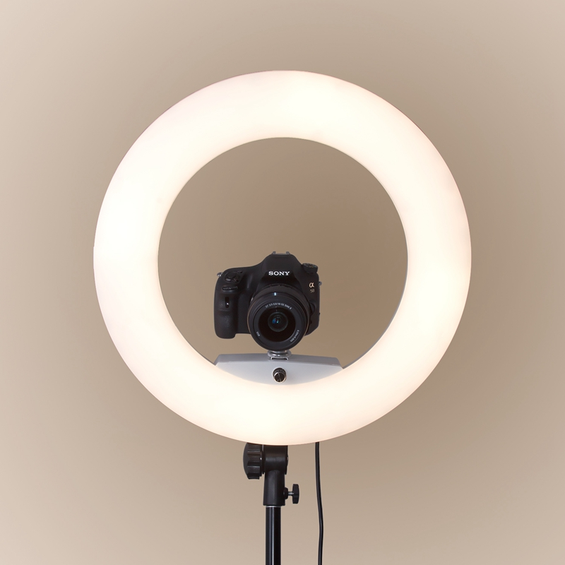 FOSOTO FE480II Bicolor Dimmable 96W LED Ring Light Makeup Lighting With Stand Remote Control For Youtube/ Photography/ Photo/ Studio