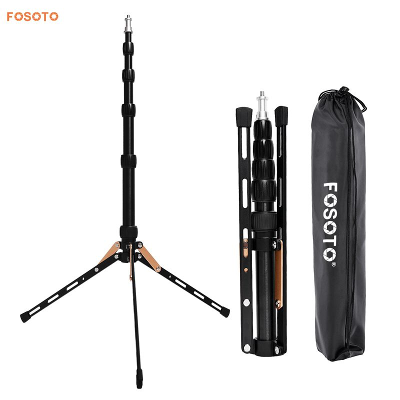 FOSOTO FT-140 Portable Light Stand 123cm Tripod For Camera Phone Photographic Lighting Flash Umbrellas Reflector Photo Studio