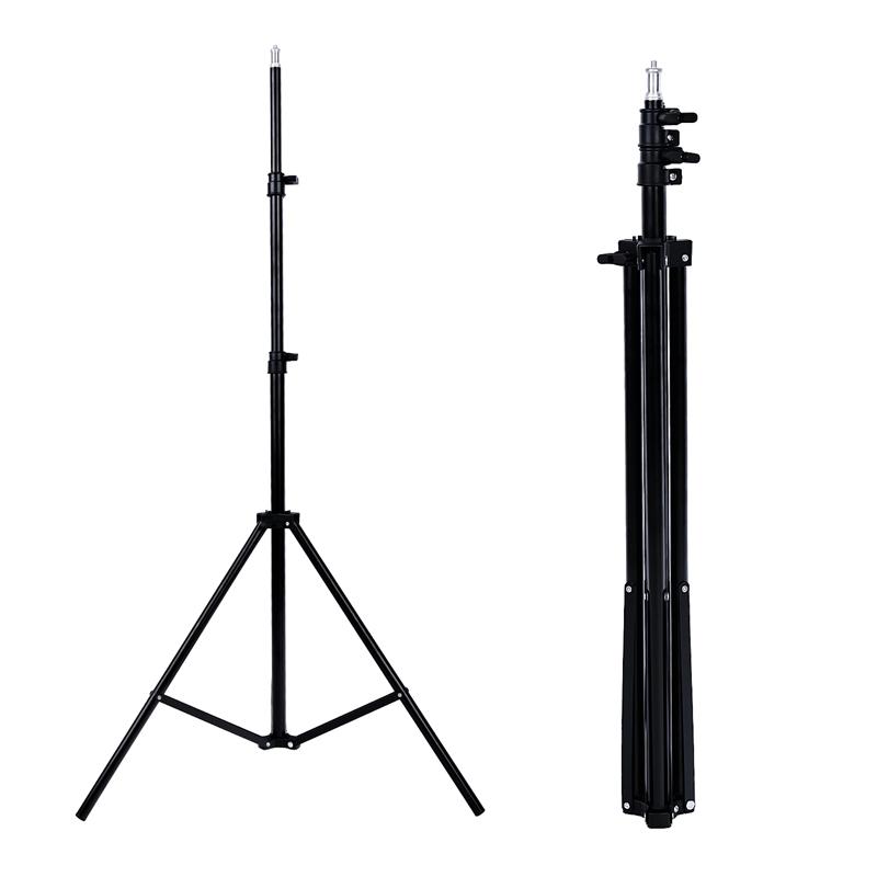 FOSOTO 200CM Tripod Light Stand Softbox Umbrella Light Stand Tripod For Photo Studio Ring Photographic Lighting Flash Umbrellas