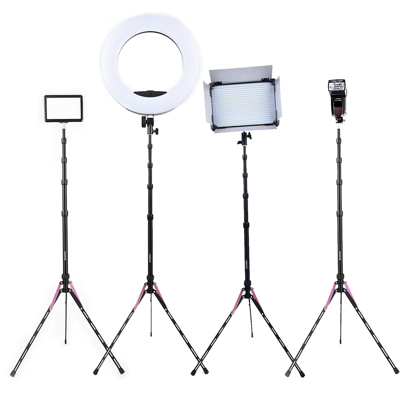 Fosoto FT-190B Red 2.2m Led Light Tripod Stand with Bag  Head Softbox For Photography Studio ring light Flash Umbrella Reflector