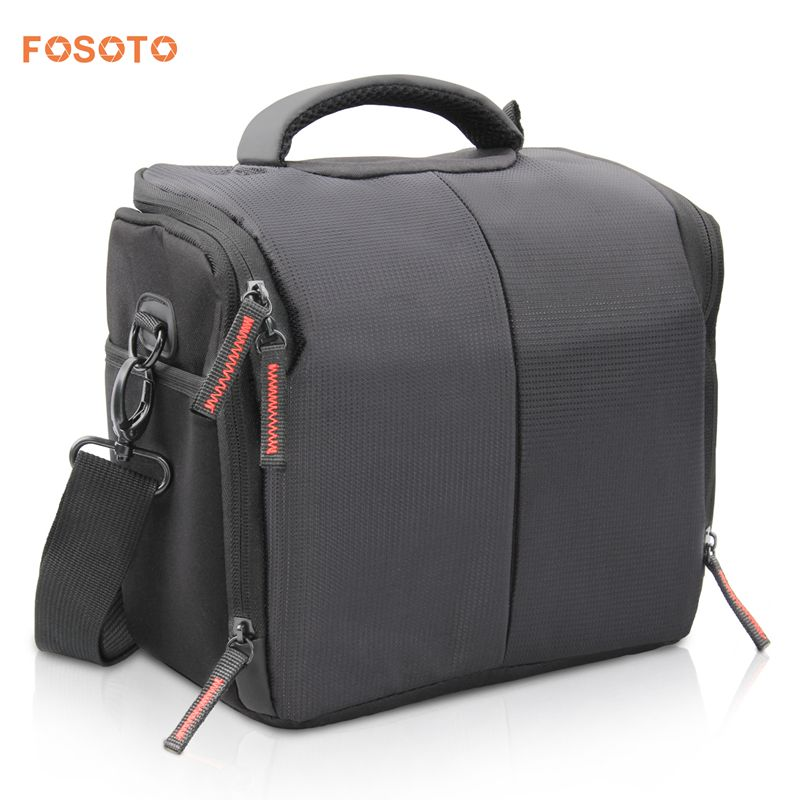 FOSOTO 650DL Camera Case Bag Compatible for Nikon D3300 D3400 D5300 D5500 D5600 D7200 D7100 D500 D90 D60 D750 D810 D610,Canon EOS Rebel T5i T6 T7i XT SL1 T3i T4 70D 80D 5D Mark 6D 7D,Sony a99II SLR Camera