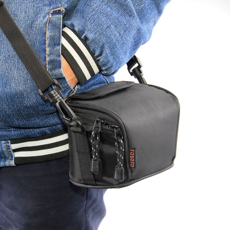 FOSOTO D700 Camera Case Bag Compatible for Nikon Coolpix L330 L340 L320 L310 L820 L810 L620,Canon Powershot SX420 SX510 HS G1, Nikon J5 J3 S1 V2 V3,Panasonic Lumix LZ20 LZ30,Sony Video Camera