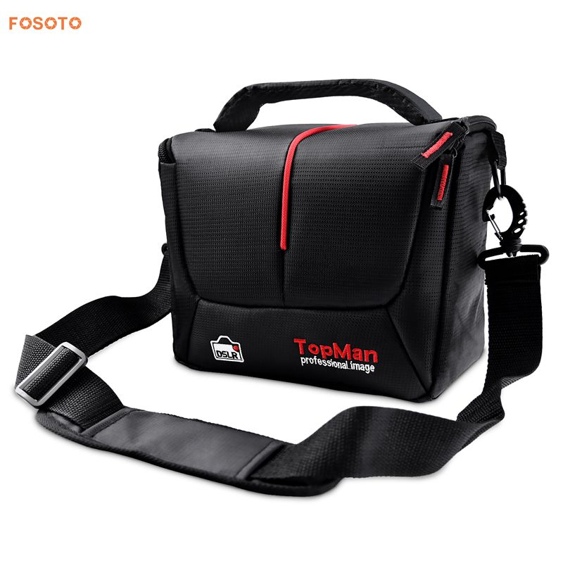 FOSOTO 201S-B DSLR Camera Bag Digital photography Photo Video Shoulder Case Cover Nylon Bags For Dslr Sony Canon Nikon D700 D300 D200