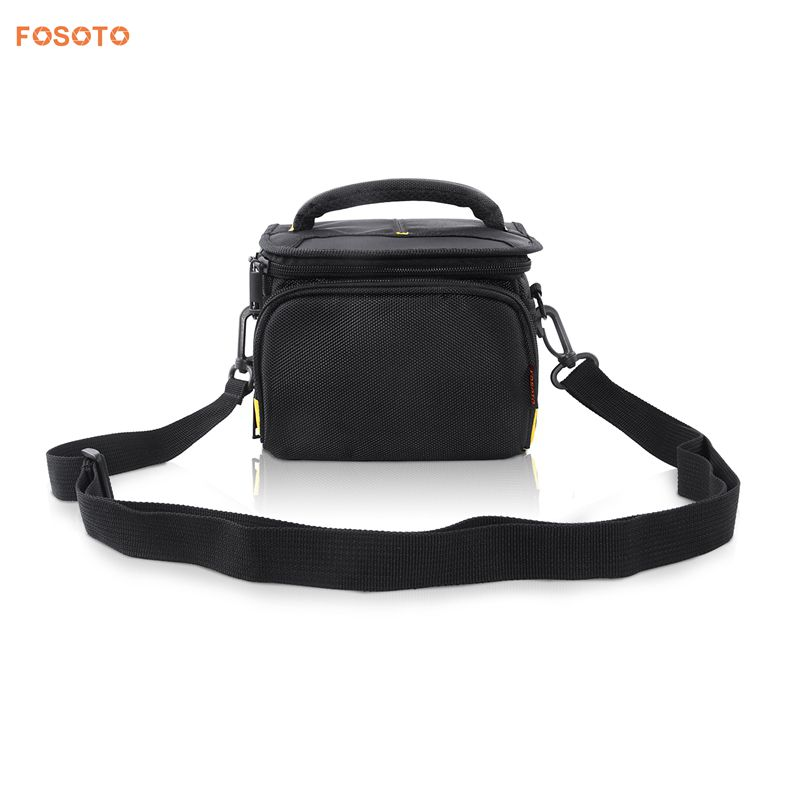 FOSOTO R4 DSLR Shoulder Bags Digital Video Photo Camera Travel Case Bag with Waterproof Rain Cover for Canon Nikon SLR D3400 D3100