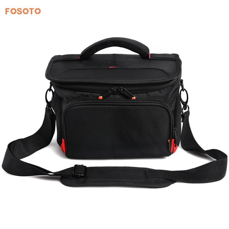 FOSOTO R4L Shockproof DSLR Camera Shoulder Bag Case Compatible for Canon EOS T5i T6 T7i 5D 6D, Nikon D3400 D5600 D7200 D750 D610, Sony A99 Olympus Fujifilm Pentax