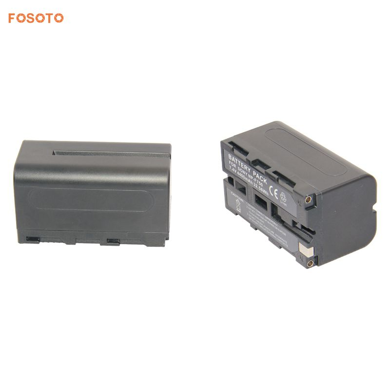 FOSOTO NP-F750 4400mAh 7.4 V Battery For Sony Camcorder & Led Video Lights