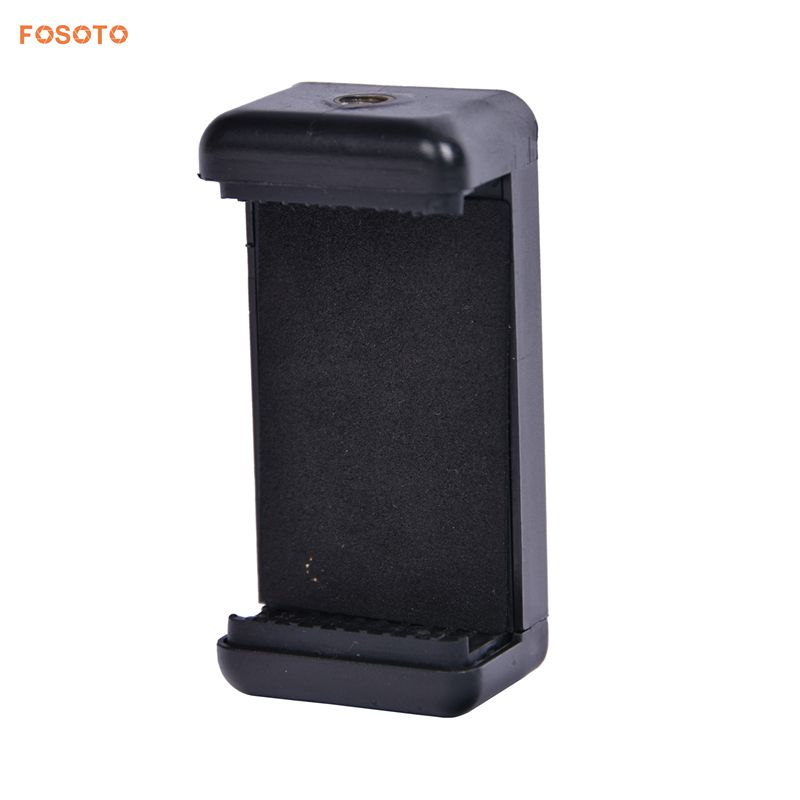 FOSOTO holder L Adjustable Phone Holder Smartphone Clip For Smartphone Camera Tripod Stand Mount Adapter Monopod