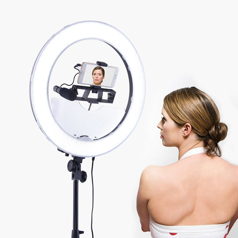 FOSOTO Ring Light Accessories Moon Mirror For Rl-18 Rl-188 and other 18 inch Makeup Lamp