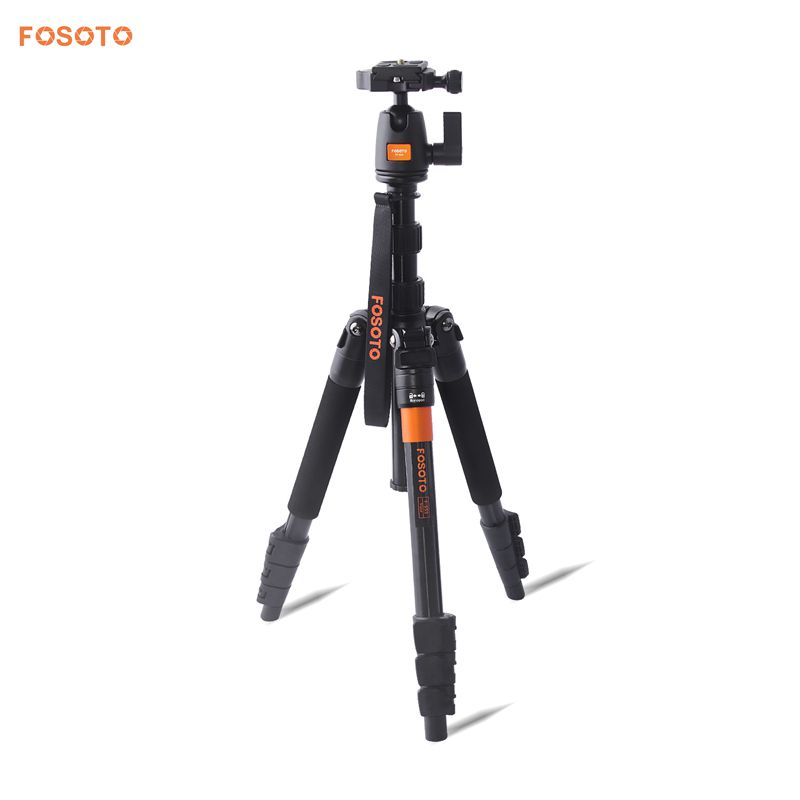 FOSOTO F-555 Professional Portable Magnesium Aluminium Alloy Q555 Camera Tripod Monopod Stand with Ball Head  For Canon Nikon DSLR Phone