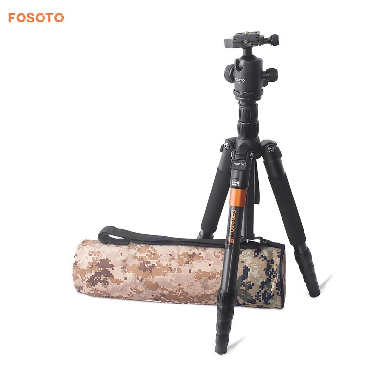 FOSOTO F-666 Professional Portable Travel Digital DSLR Camera Monopod tripod Stand with ball head For Canon Nikon DSLR DV Phone