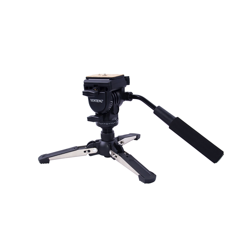 FOSOTO VCT-288 professional mini tripod monopod stand & fluid pan head quick release plate unipod for Canon Nikon camera phone