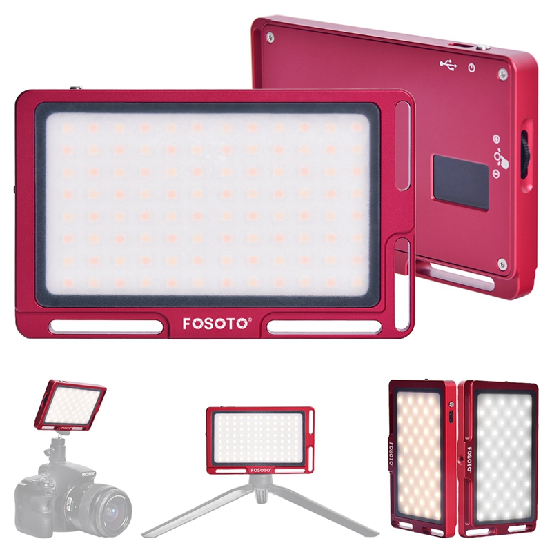 FOSOTO FT-03 3500k-5700k 96 LED lamp beads Mini LED Video Camera Light pane Fill Lamp for DSLR Camera