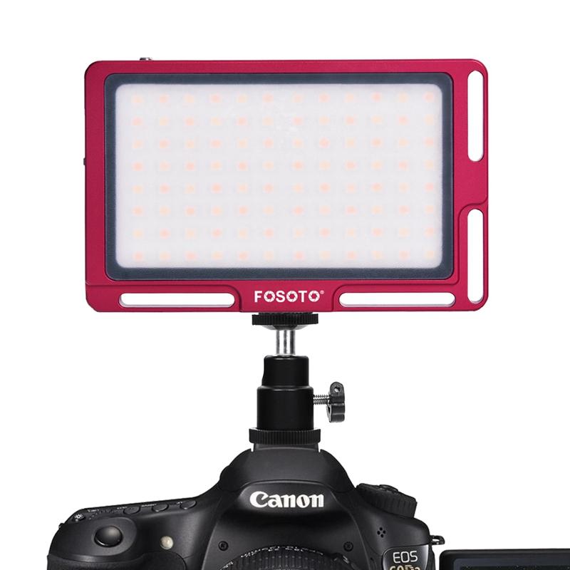 FOSOTO FT-03 3500k-5700k 96 LED lamp beads Mini LED Video Camera Light pane Fill Lamp for DSLR Camera