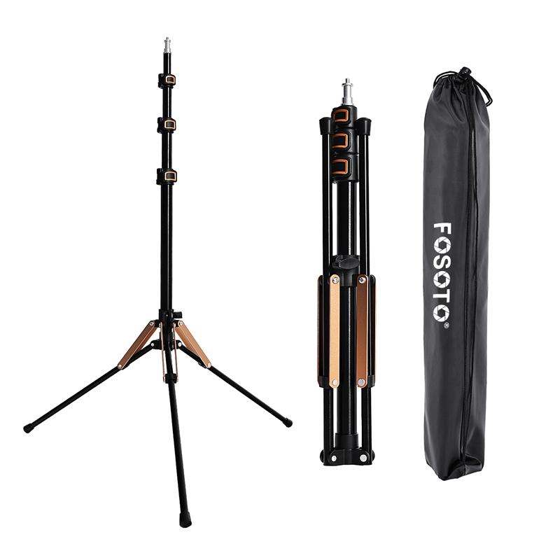 FOSOTO FT-195 Led Light Tripod Stand with 1/4 Screw carry Bag For Photo Studio Photographic Lighting Flash Umbrellas Reflector