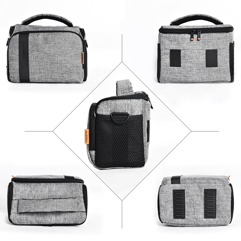 FOSOTO FT-B500 Black Wholesale Low Price Waterproof Canvas Camera Shoulder Bag For Dslr Slr Camera Bags