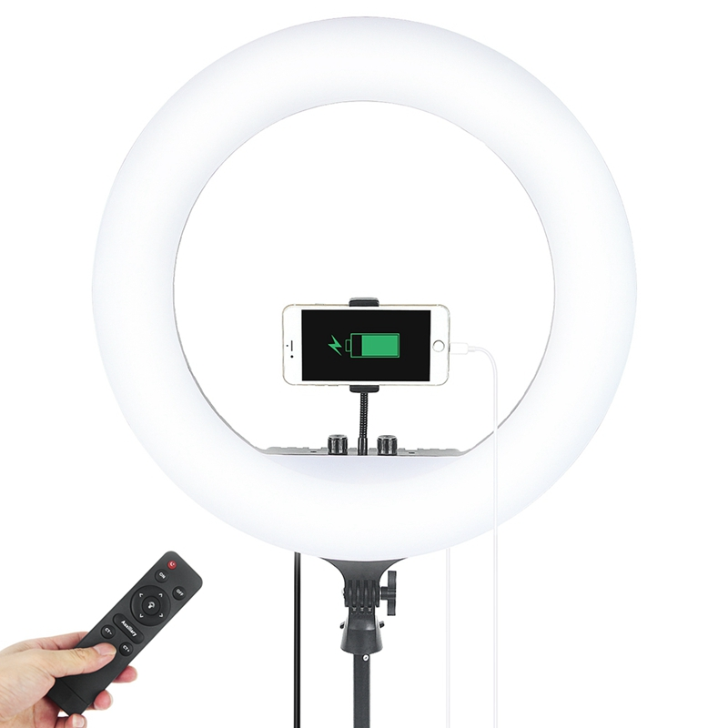 FOSOTO FT-4518inch 55W Dimmable Studio photographic lighting with remote control for Live Video Portrait Wedding
