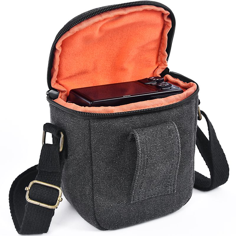 FOSOTO R3 DSLR fashion Camera Water Resistant Canvas Camera Case Shoulder Strap Bag for Canon Nikon Sony video bag